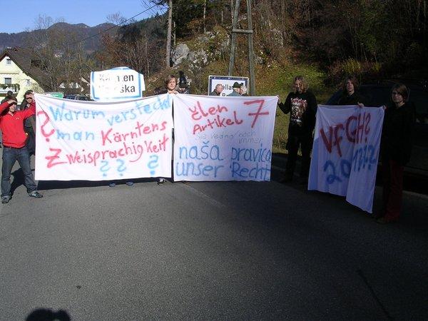 protest koroških Slovencev