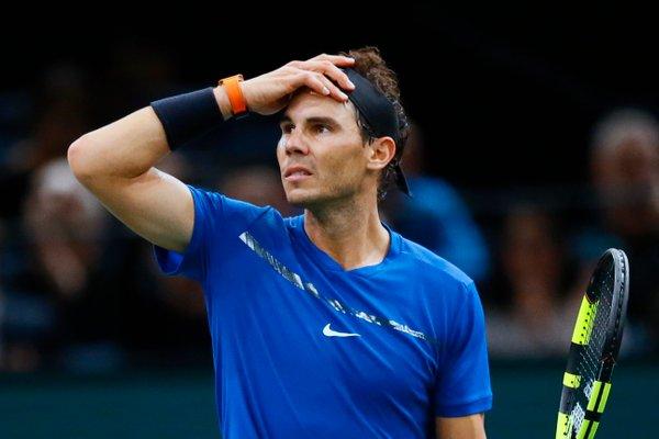 Rafael Nadal poškodba Pariz masters - 1
