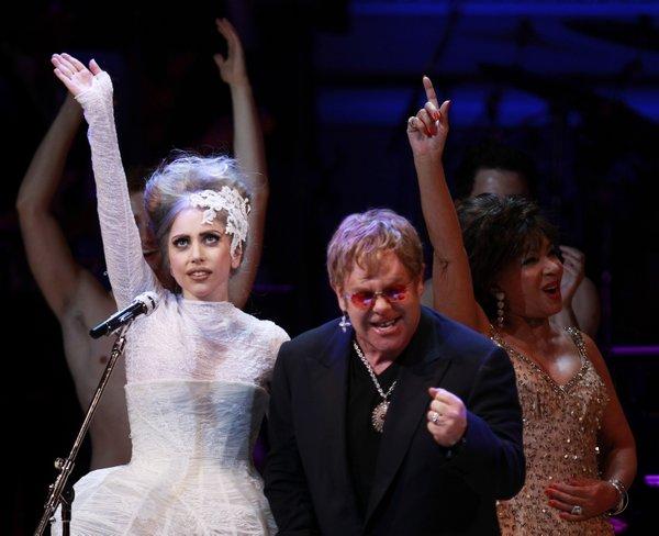 Lady Gaga in Elton John