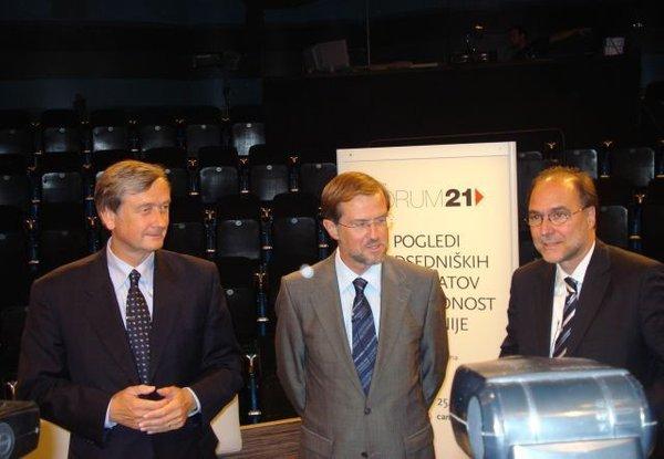 Danilo Türk, Lojze Peterle in Mitja Gaspari