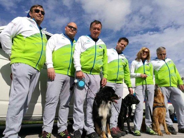 Odprava Enote društva reševalnih psov Slovenije