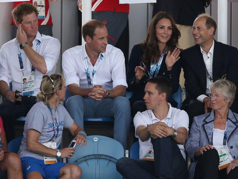Harry, William, Kate in princ Edward