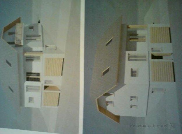 'Naprodaj je samostojna hiša, zgrajena sredi osemdesetih'. Torej najbrž še vedno stoji tudi v naravi in ni samo narisana na papirju? Načrti tlorisov so sicer dobra ideja, a ne kot edina fotografija. Foto: nepremicnine.net
