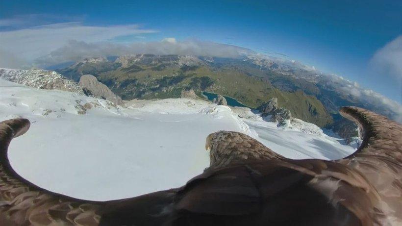 Viktor je v petih dneh poletel nad petimi evropskimi ledeniki.