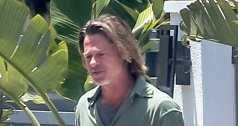 Brad Pitt po nekaj tednih karantene z dolgimi lasmi