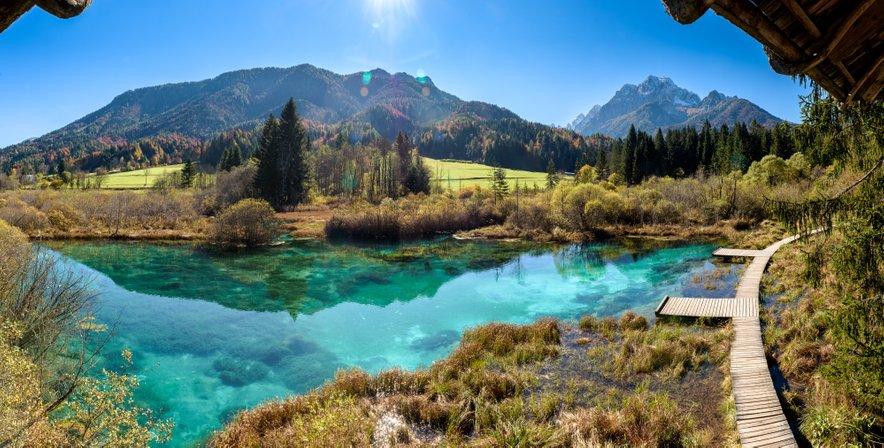 Naravni rezervat Zelenci v Kranjski gori.