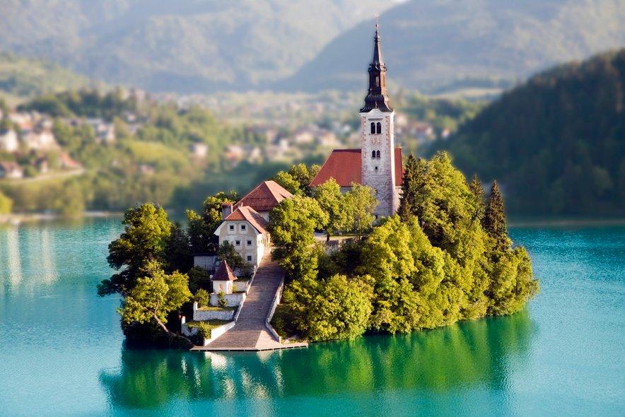 Blejski grad na Bledu.