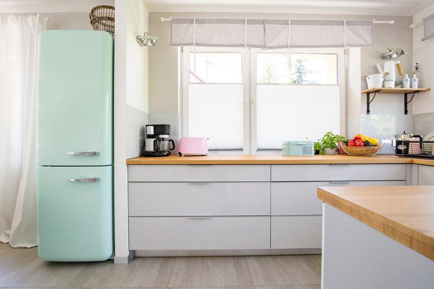 Izberite le hladilnik ali opekač v pastelnih barvah.
