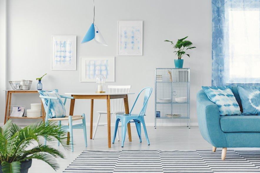 Pastelne barve najbolj sodijo v preprost, minimalističen interjer.