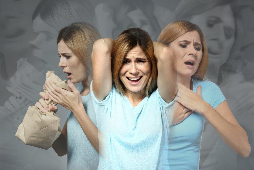 Ekstremne spremembe razpoloženja ali nepojasnjeni napadi panike.