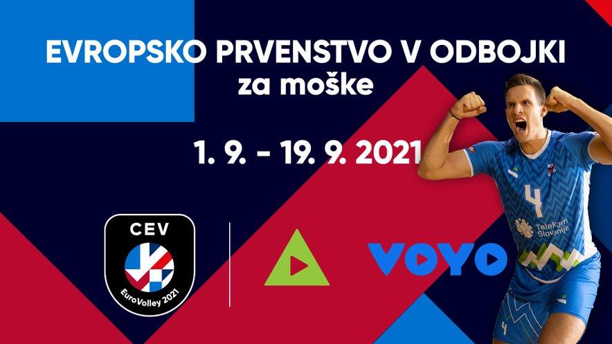 Prenos tekem slovenske reprezentance na evropskem prvenstvu v odbojki si boste lahko ogledali na KANALU A in VOYO.