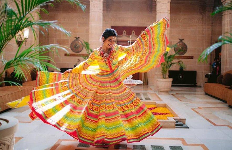 Indijska igralka je bila prelepa nevesta.