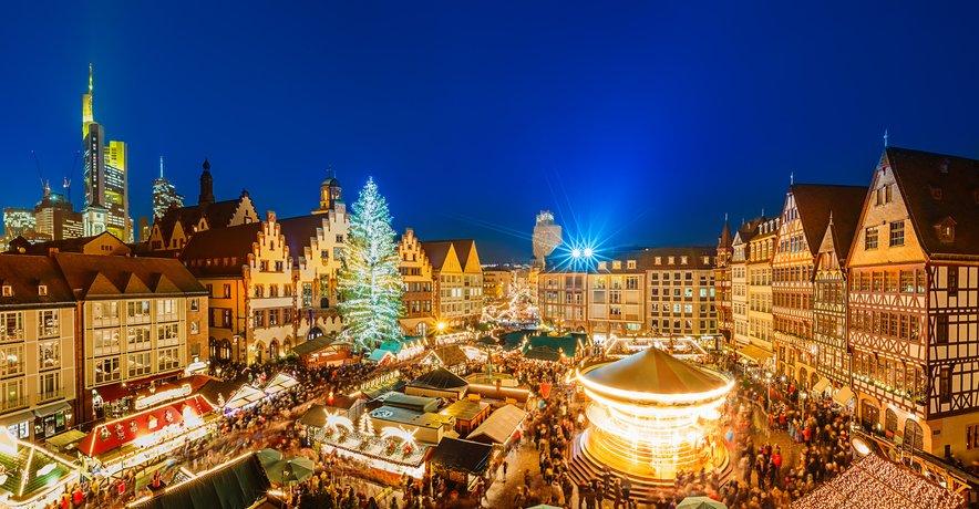 Božični sejem v Frankfurtu.