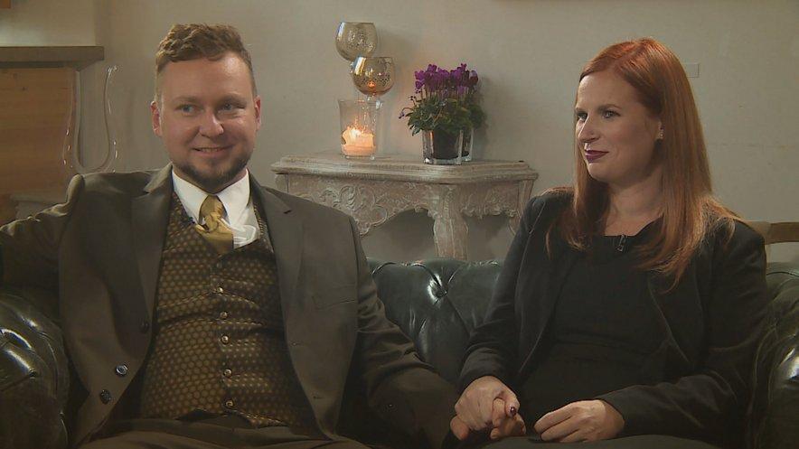 Damjan in Barbara sta resnično srečna.