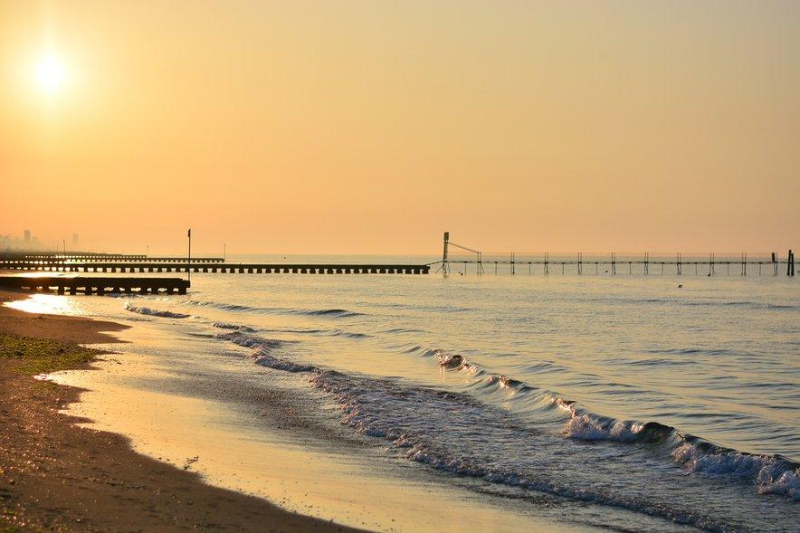 Plaža v Riminiju je čudovita v vseh letnih časih.