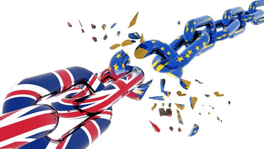 Veriga iz britanske in evropske zastave