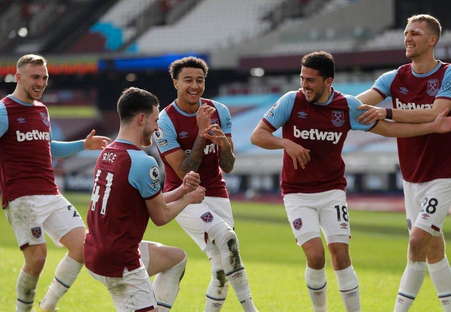 Lingard (tretji z leve) blesti v novem dresu in je po 57 tekmah brez gola v Premier League zdaj dosegel že štiri gole na svojih zadnjih petih tekmah v tem tekmovanju (enega še kot član Man. Uniteda).