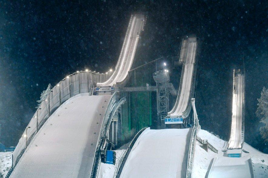 Skakalnice v Lahtiju. Fotografija je simbolična.