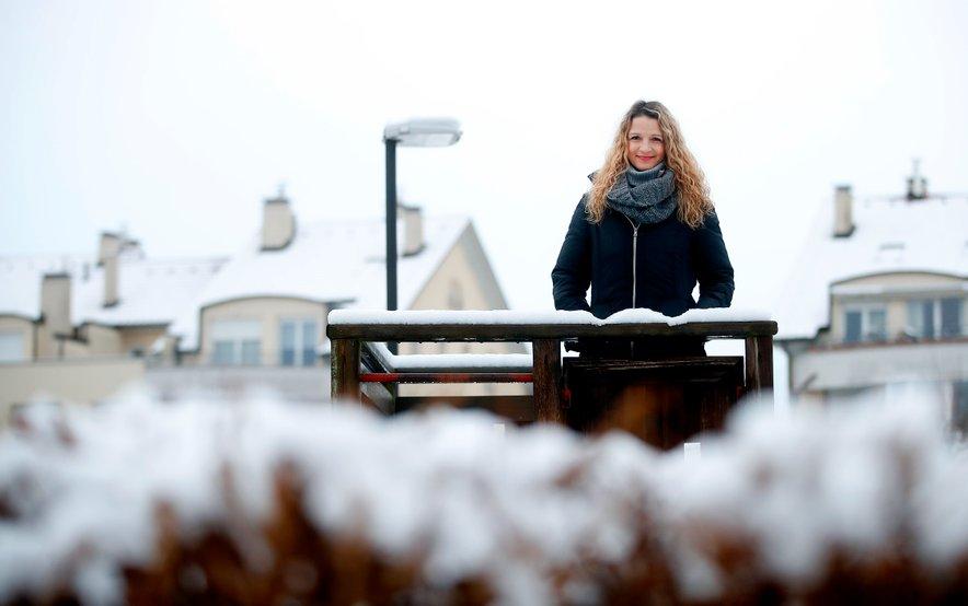 Med snemanjem je bilo sončno, dan kasneje pa je bila Ljubljana povsem bela.