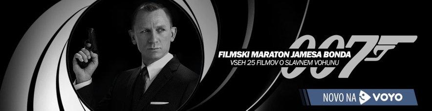 Vseh 25 filmov Jamesa Bonda si lahko ogledate na VOYO.