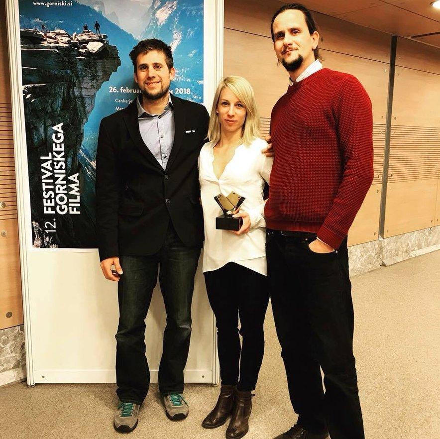 Prva osvojena nagrada za najboljši film na Festivalu gorniškega filma februarja lani.