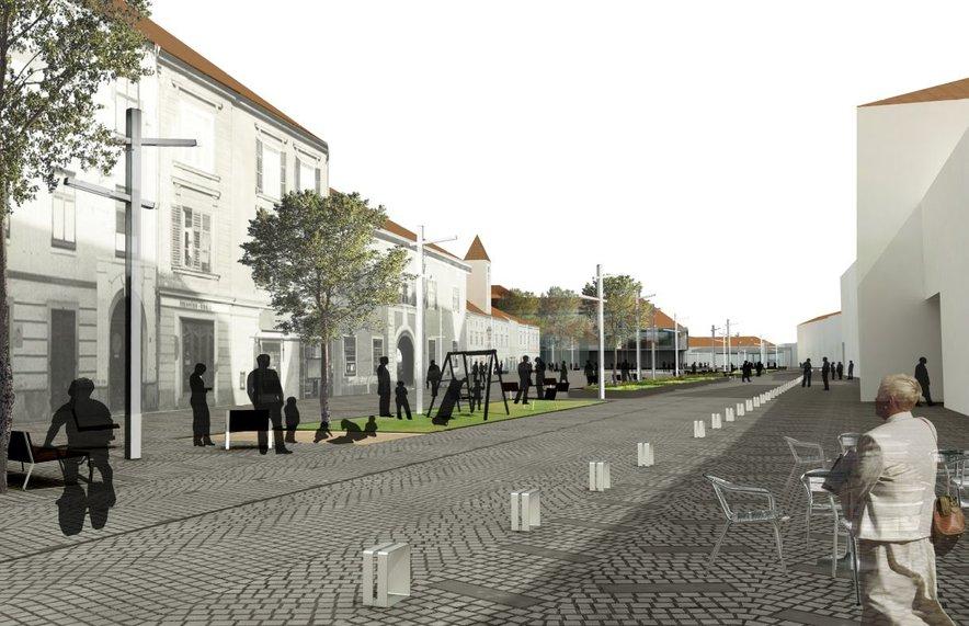 Idejna zasnova Koroške ceste v Mariboru. Prenova teče po arhitekturni rešitvi iz leta 2010.