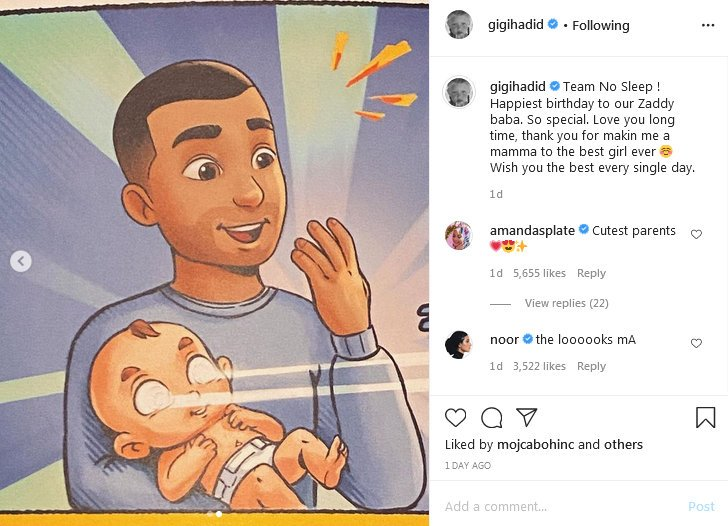 Gigi Hadid Zaynu podarila personalizirano knjigo slovneskega podjetja Mali junaki.