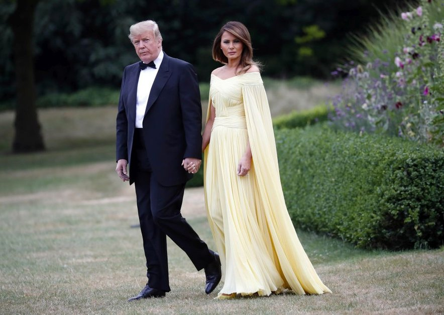 Melania Trump in Donald Trump