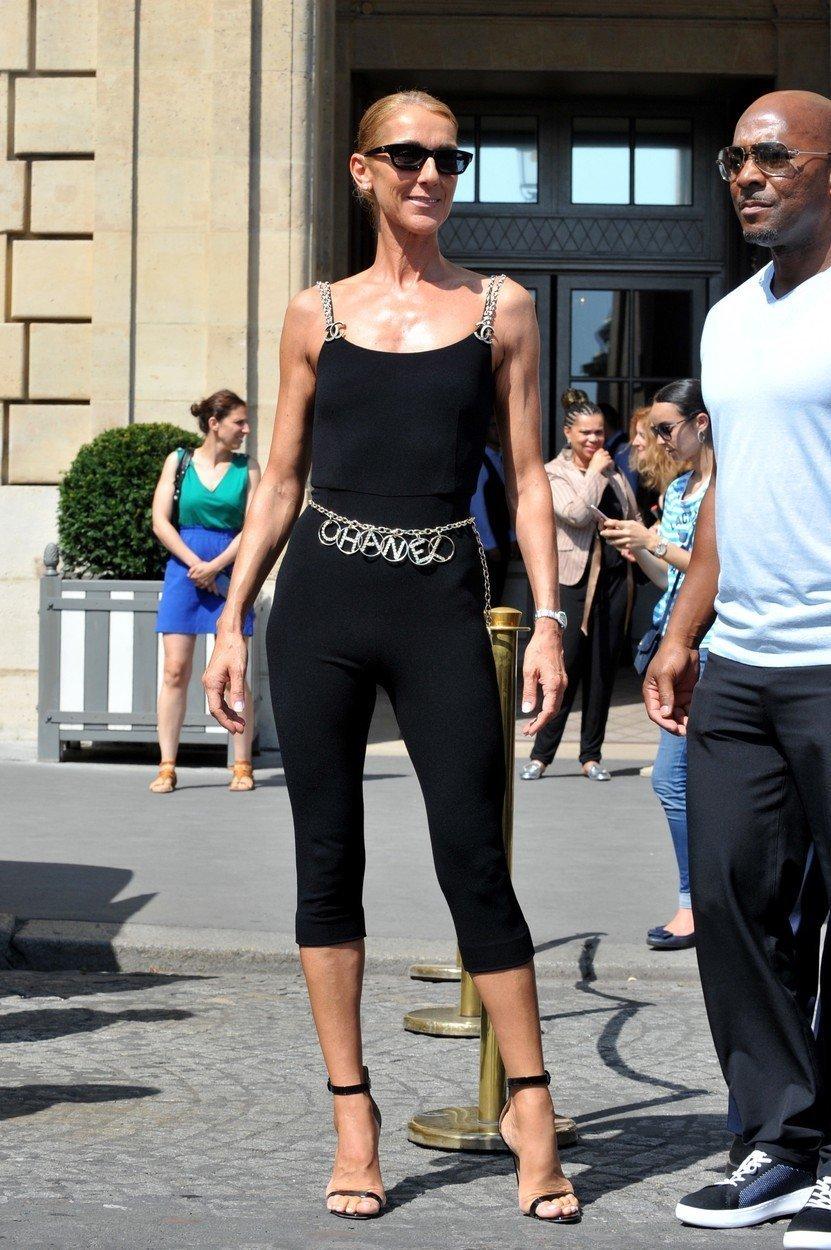 Celine Dion na pariškem tednu mode