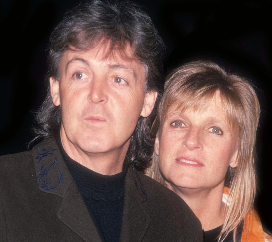 Paul McCartney in žena Linda McCartney, ki je umrla aprila 1998.