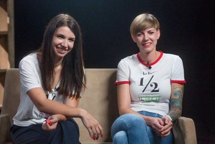 Karmen in Neža sta se z nasmehom spominjali trenutkov v oddaji 'Štartaj, Slovenija!'.