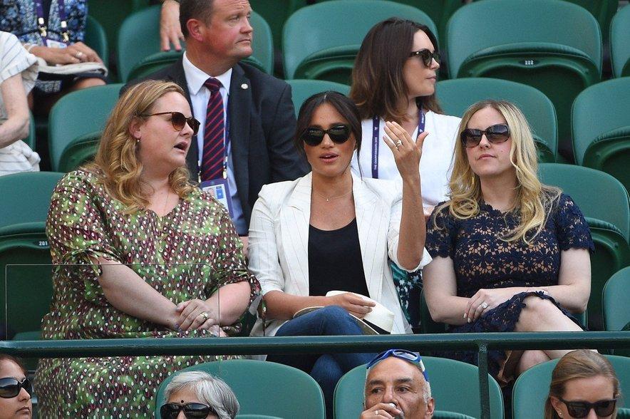 Meghan Markle na teniškem turnirju v Wimbledonu