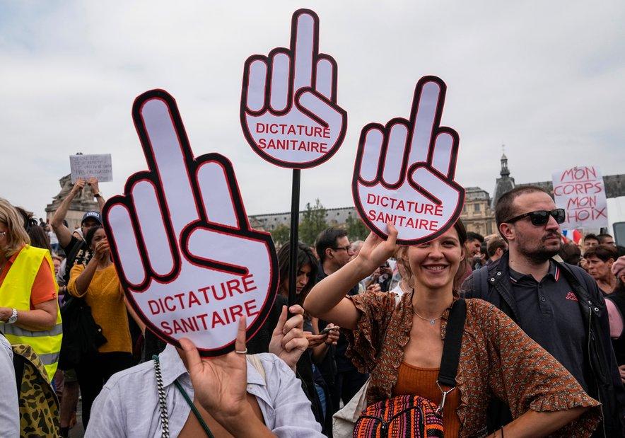 Protesti v Franciji proti zaostritvi ukrepov.