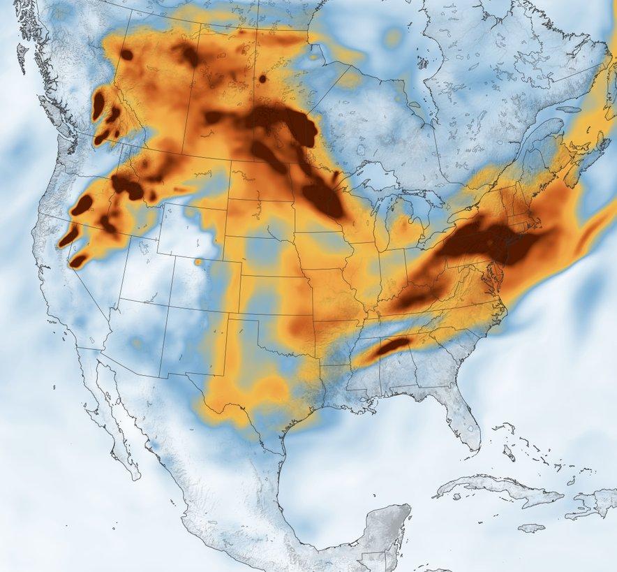 Dim po Združenih državah Amerike.