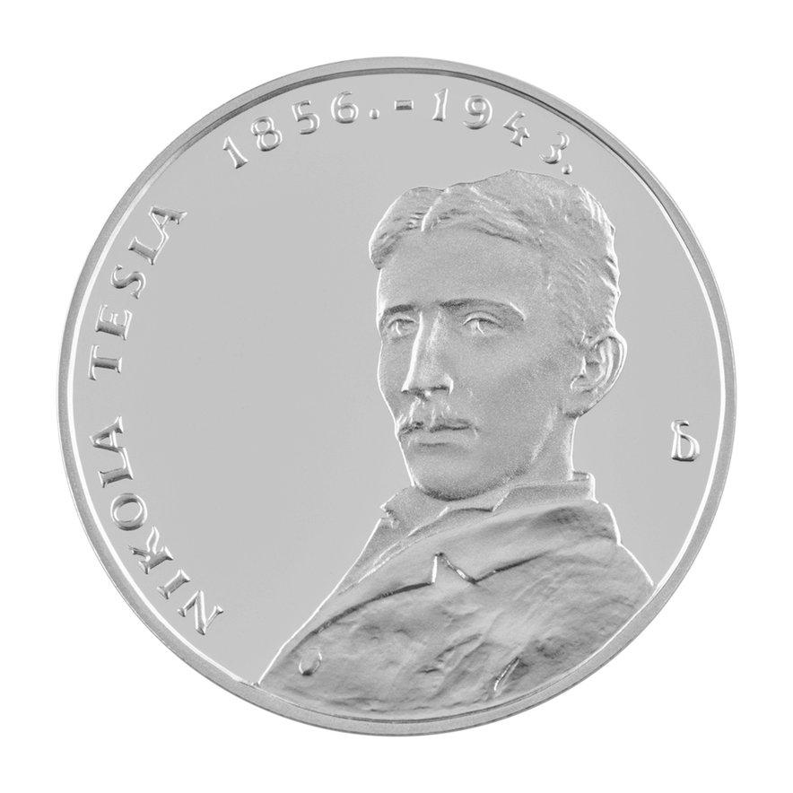 Posebna izdaja kovanca s podobo Nikole Tesle