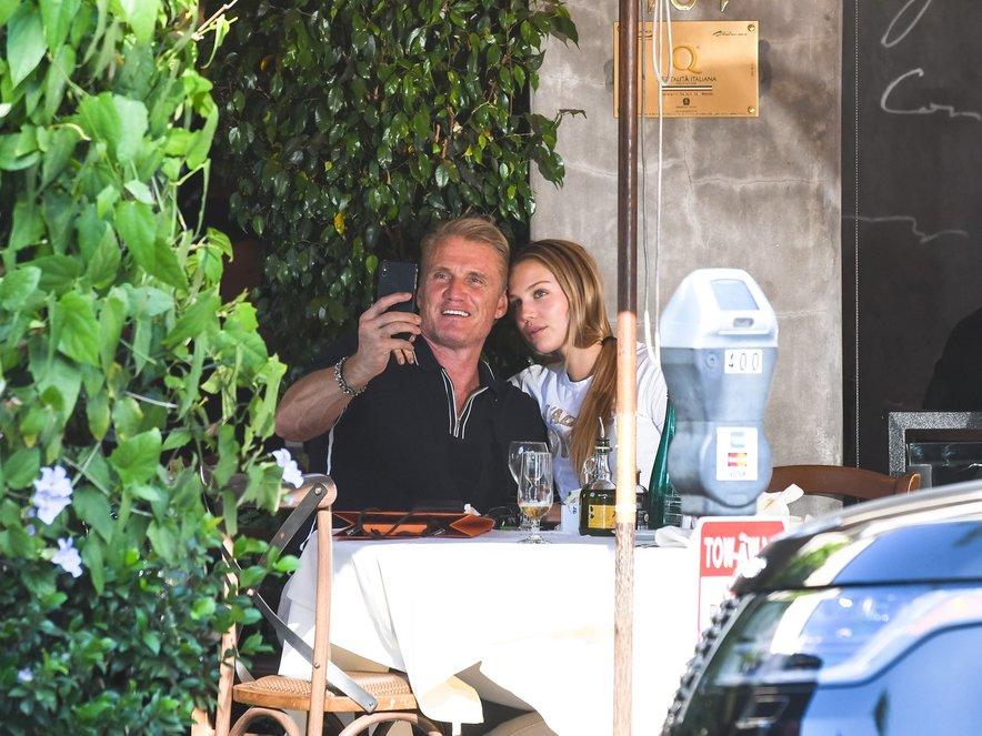 Dolph Lundgren s hčerko Ido.