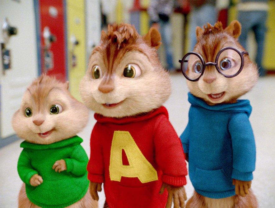Alvin, Simon in Theodore so glasbeno nadarjeni veverički.