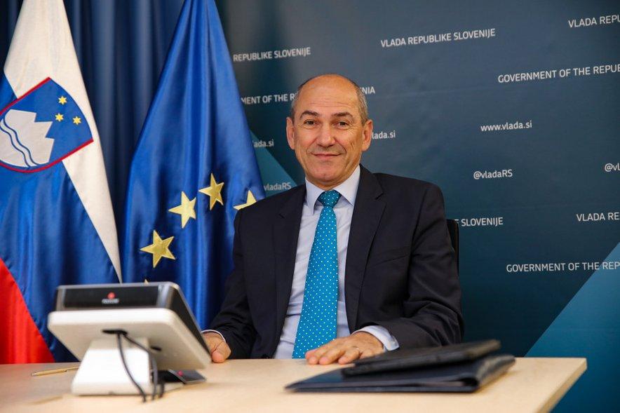 Predsednik vlade Janez Janša se je danes udeležil neformalnega videokonferenčnega zasedanja Evropskega sveta.