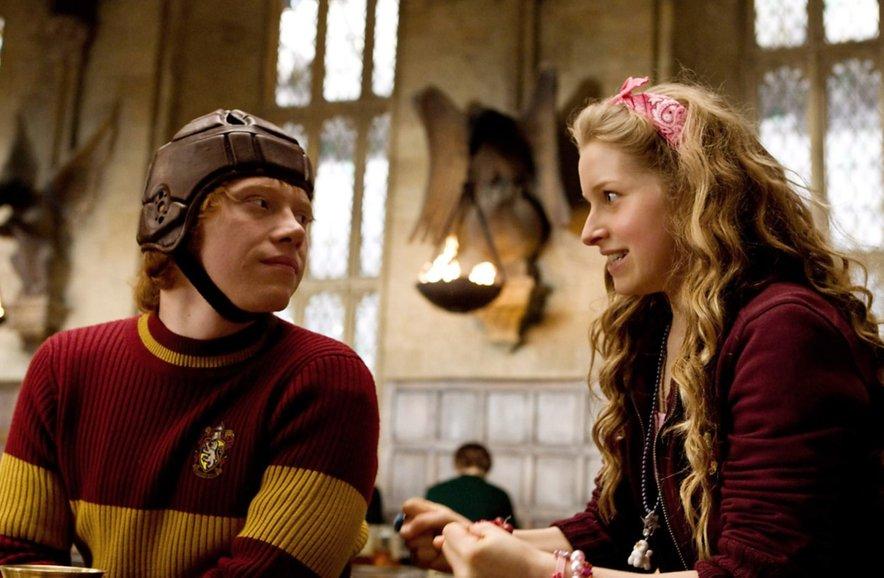 Jessie Cave v filmu Harry Potter in Princ mešane krvi.