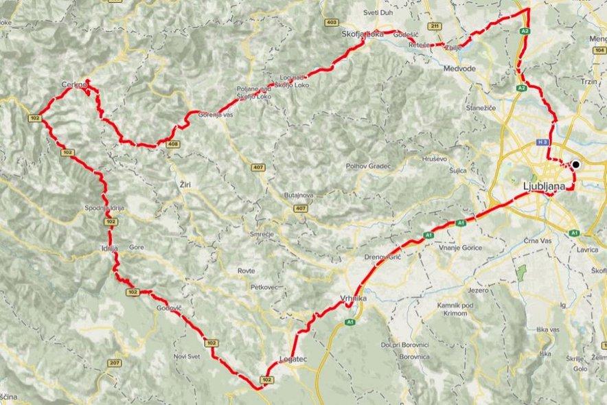 Trasa maratona Franja, 13. 6. 2021