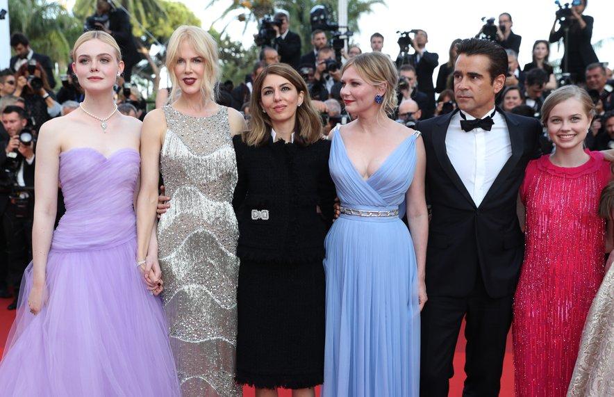 Sofia Coppola z igralci na lanskoletni podelitvi nagrad v Cannesu.