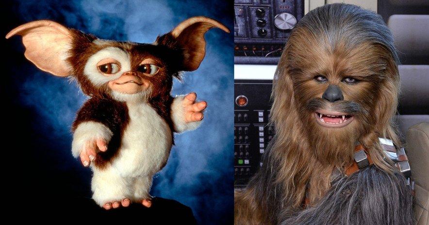 Številne Chewie spominja na kultna junaka iz filmov Gremlini in Vojna zvezd.