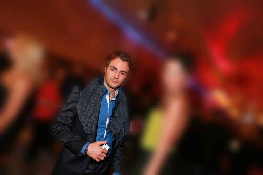 Sebastien Abramov (takrat Sebastian Colarič) na podelitvi Viktorjev leta 2013.
