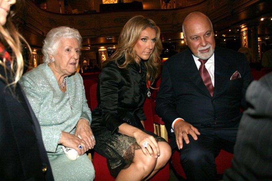 Celine Dion z možem in svojo mamo.