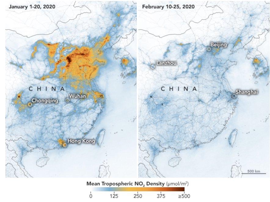Zmanjšanje onesnaženja na Kitajskem.
