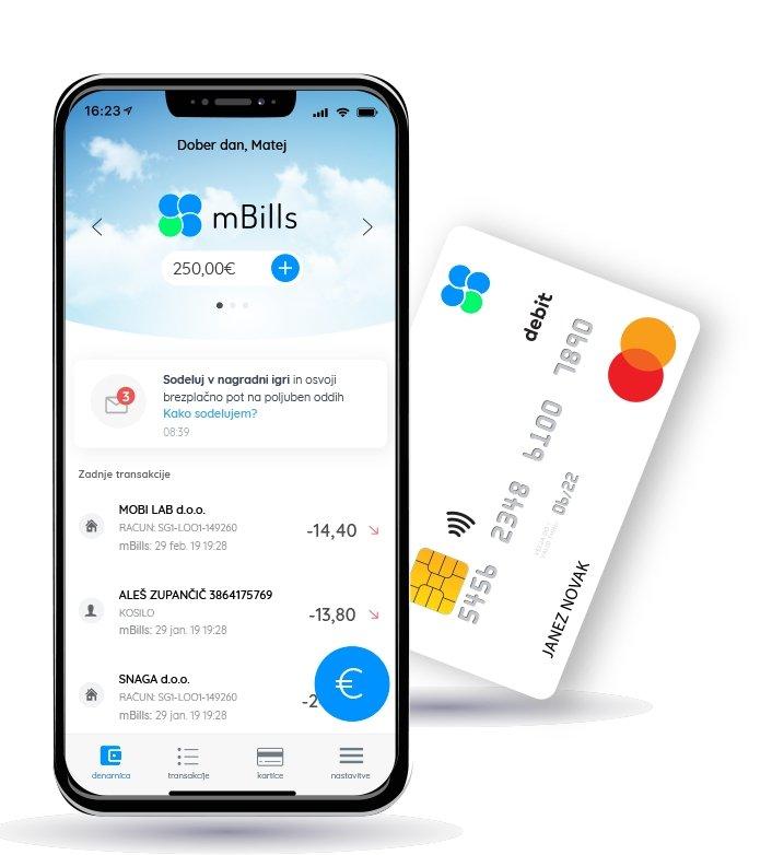 Kartica mBills Mastercard