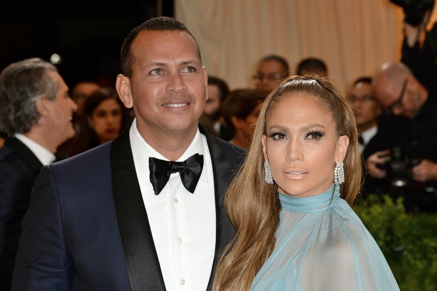 Alex Rodriguez in Jennifer Lopez.