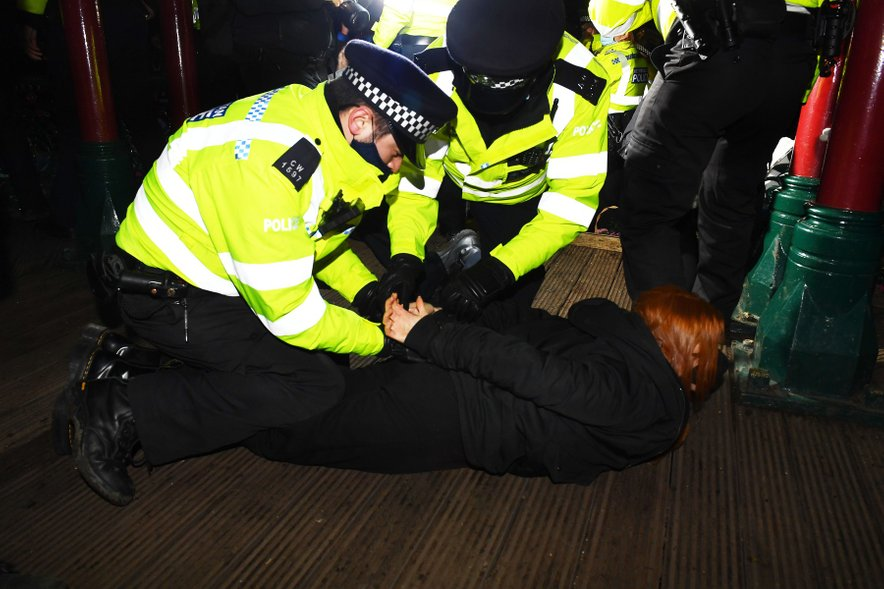 Angleška policija. Fotografija je simbolična.