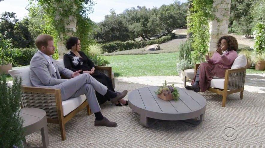 Meghan Markle in princ Harry med intervjujem z Oprah.