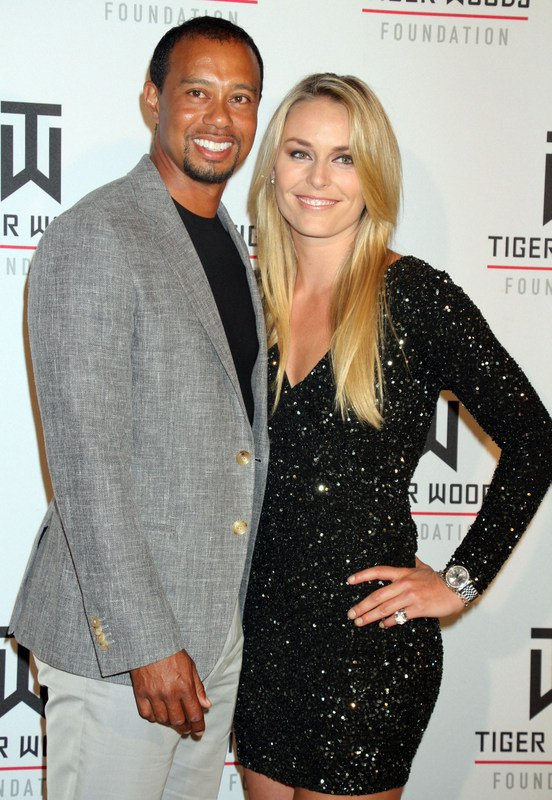 Tiger Woods in Lindsay Vonn - 2